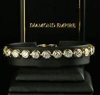 Luxus Damen Armband 6 mm Zirkonia weiß Echt 750er 18 Karat vergoldet B1575