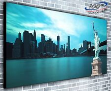New York Statue of Liberty Panoramic Canvas Print XXL 4.5 ft wide x 2 ft high