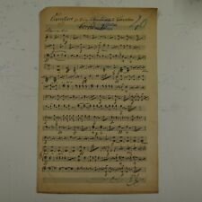 BEETHOVEN CORIOLAN OVERTURE horn part , antique music manuscript