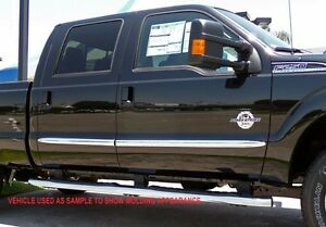 "2002-2008 Dodge Ram 1500 Body Side Molding Quad Cab 2"" Width BULLET END 4Pcs"