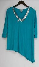 Rayon 3/4 Sleeve Tunic Solid Tops & Blouses for Women