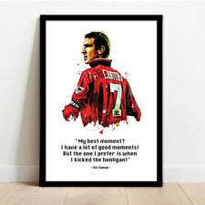 More details for manchester united - man utd - eric cantona - framed art print!