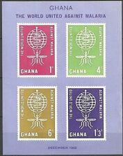 Ghana - Kampf gegen die Malaria Block 7 postfrisch 1962  Mi.Nr. 134-137