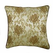 26x26 inch Jacquard Handmade Euro Size Pillow Sham Brown - Brown Floral Glory