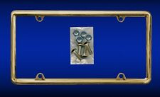 Gold Plastic Frame With Gold Screws Gifts Autos Cars Plate Holder Polished Shiny