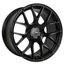 18x8.5 Enkei RAIJIN 5x112 +42 Black Wheels (Set of 4)