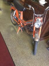 VINTAGE 1977 ORANGE MOTOBECANE MOBYLETTE MOPED ~ TOTALLY ORIGINAL ~ Solid Overal