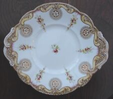 Bone China Cake Plate Samuel Alcock Floral Gilt Decoration Pattern 6171 No1