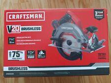 CRAFTSMAN V20 20-Volt Max 7-1/4-in Brushless Cordless Circular Saw. SEALED