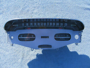 1958 Chevy Impala Bel Air Dash Cluster Speedometer with Gauges