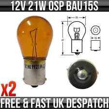 12v 21w bau15s OSP Indicatore Lampadina (AMBRA) - r581 * confezione da 2 *