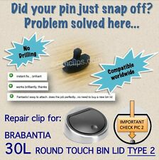 Reparación/Fix Bin Tapa Clip Delantero 30L Brabantia Touch Bin Papelera Sin Taladro tipo 2