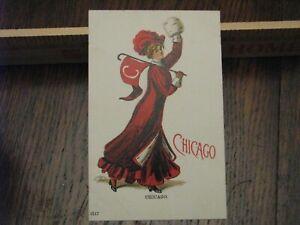 University of Chicago Postcard Pennant Girl