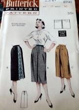 LOVELY VTG 1950s SKIRT BUTTERICK Sewing Pattern WAIST 30 FF