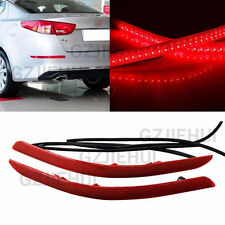 2x LED Rear Bumper Reflector Brake Turn Signal Light For KIA Optima K5 2014 2015