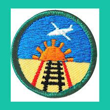 TRAVELER Jr. Jade Girl Scout BADGE NEW Patch Sun Tracks Airplane Multi=1 Ship Cg