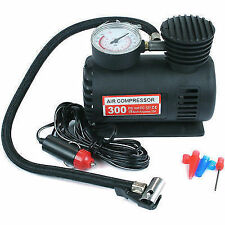 12V 300PSI COMPACT AIR COMPRESSOR PUMP TYRE INFLATOR BICYCLE BALL BIKE CAR VAN