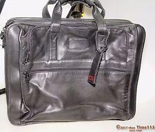 TUMI Napa Soft Leather Briefcase Computer Laptop Messenger Bag Black Travel 985
