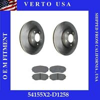 Front Brake Rotors Pads For FORD Edge FWD Model, Lincoln MKX 296 mm ,  2007 2008