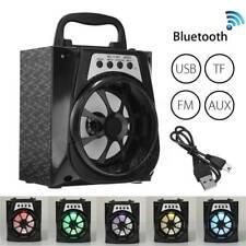 Altavoz Bocinas Portátil LED Inalámbrico Bluetooth USB/TF/AUX/FM Radio Outdoor
