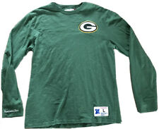 MITCHELL AND NESS Green Bay PACKERS Long Sleeve Shirt Size Large