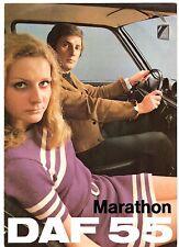 Daf 55 Marathon Saloon 1971 UK Market Foldout Sales Brochure