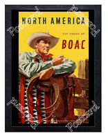 Historic BOAC North America Advertising Postcard
