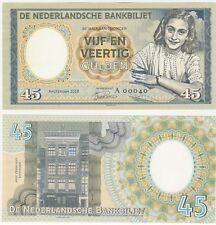 Netherlands Holland 45 Gulden 2018 UNC Specimen Test Note Banknote Anne Frank