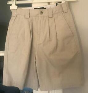 Ashworth Dewsweeper junior kids golf shorts stone bnwt