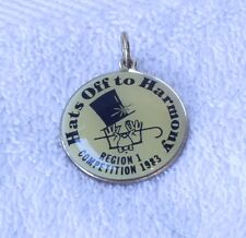 Sweet Adeline's Barber Shop Quartet Charms Pins HATS OFF TO HARMONY 775-i
