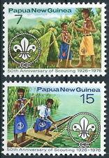 Papua Neuguinea - 50 Jahre Pfadfinder Satz postfrisch 1976 Mi. 310-311