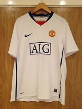 Manchester United Men's Size XL AIG White Football Shirt