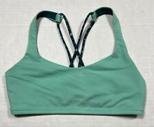Lululemon Sea Foam Green Athletic Sports Bra Women's XS Gym Running Strappy
