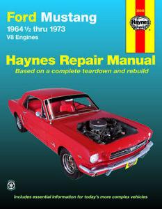 Ford Mustang, Mach 1, GT, Shelby, & Boss V-8 (1964-1973) Haynes Repair Manual (U