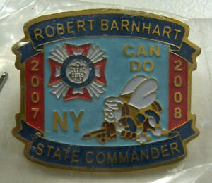 VINTAGE/COLLECTIBLE 2007-08 N.Y ROBERT BARNHART STATE COMMANDER CAN DO PIN NEW
