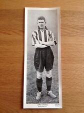 """James Connor, Sunderland FC, Topical Times, 1930 S Football, TB, 9.5"""" X 3.5"""""""