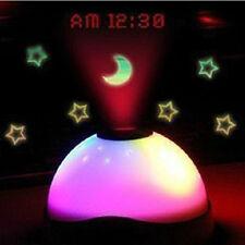 LED Nachtlicht Sternenhimmel Wecker Uhr Zeiger Projektor Lampe Weihnachtseschenk