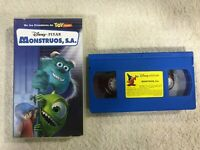 MONSTRUOS S.A. VHS CINTA TAPE DISNEY PIXAR MONSTRUOS, SA CONTENIDO EXTRA TOMAS