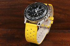 Hermes Cinturino Racing Giallo Vera Pelle Ansa 20mm Strap Sport Watch Chrono NEW