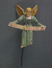 Alte Grulicher Krippenfigur, Verkündigungsengel   > 7 cm <   (# 8647)