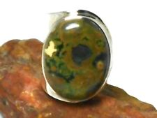 Adjustable  Rainforest  JASPER  Sterling  Silver  925  Gemstone  RING