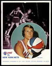 1971-72 NEW YORK NETS @ UTAH STARS~RICK BARRY COVER~ABA BASKETBALL PROGRAM