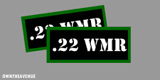 ".22 WMR Ammo Can Labels for Ammunition Case 3.5""x1.50"" stickers decals(2PACK)"