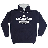 Legends Are Born In January HOODIE Starsign Top Month Joke Gift birthday funny