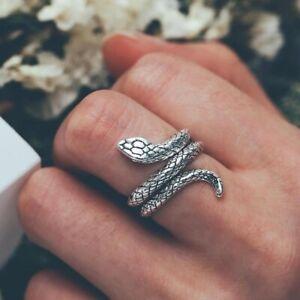 Snake shaped Cobra Rock Ring Unisex Interesting Gold & Silver Fashion Jewelry