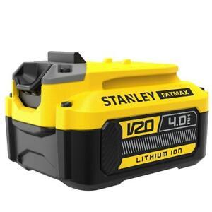Genuine Stanley FatMax V20 SFMCB204 18v 4.0ah Lithium Ion Battery 18 Volt