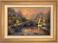Thomas Kinkade Spirit of Christmas 18 x 27 LE S/N Canvas (Gold Frame)