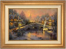 Thomas Kinkade Spirit of Christmas 18 x 27 LE S/N Canvas (Gold Frame)