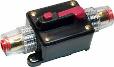 CAR STEREO AUDIO 12V CIRCUIT BREAKER FUSE INLINE FITS 4 8 GAUGE WIRE 40 AMP