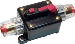 Car Truck Stereo Audio Amplifier Circuit Breaker Manual Fuse Inline Hol TPI